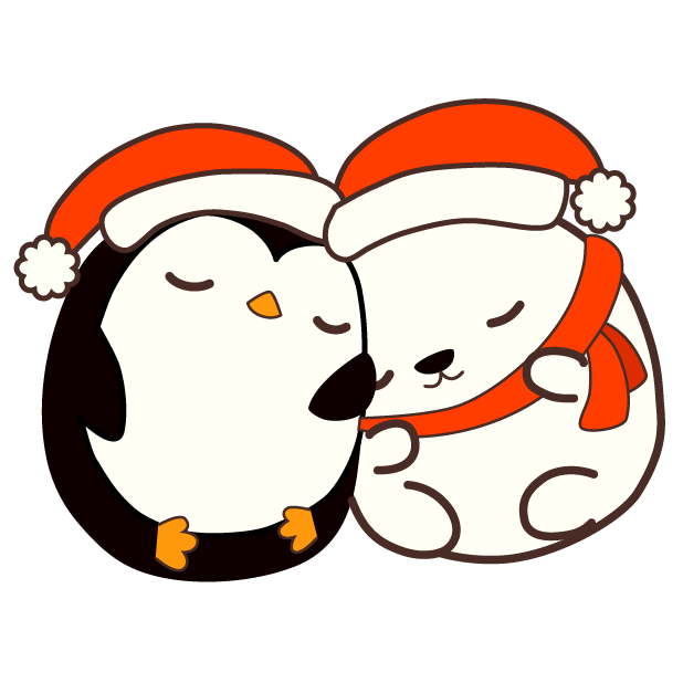 Cute Kawaii Christmas messages sticker-11