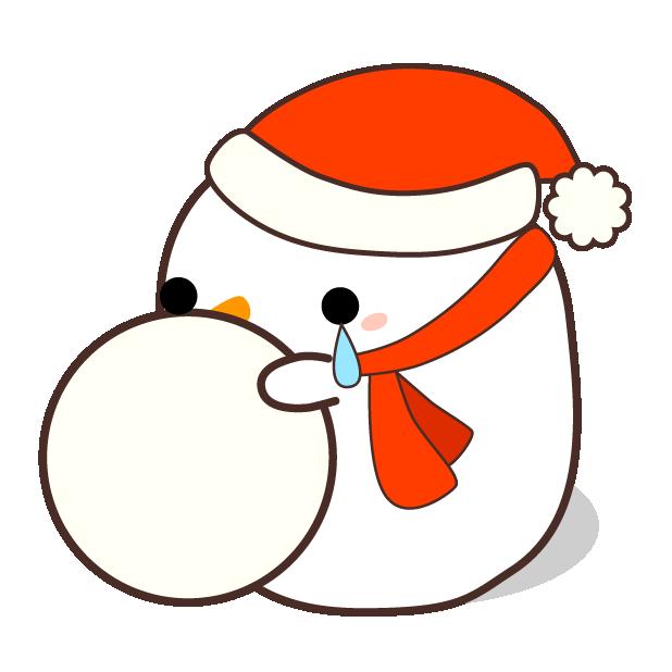 Cute Kawaii Christmas messages sticker-4