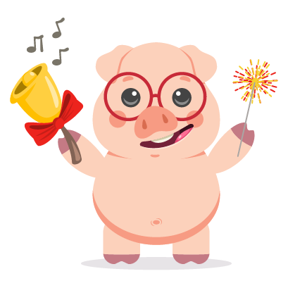 Piggy New Year's Eve Stickers messages sticker-8