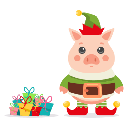 Piggy New Year's Eve Stickers messages sticker-4