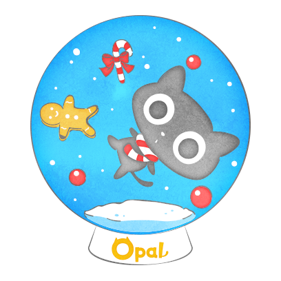 Opal's Holiday Lite messages sticker-0