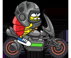Banana Racer - Moto Racing messages sticker-4