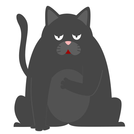 Black Pussycat messages sticker-7