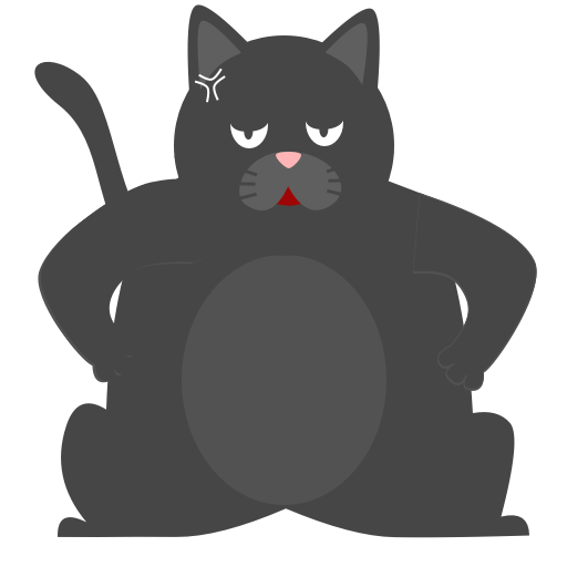 Black Pussycat messages sticker-2
