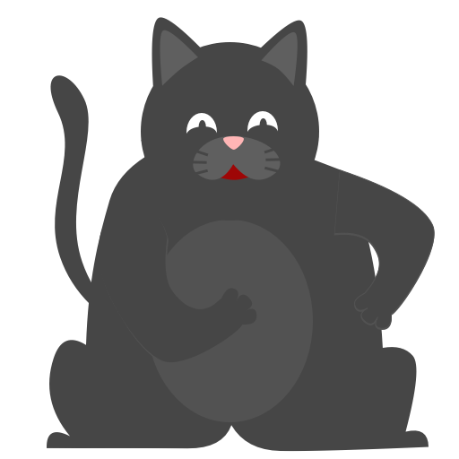 Black Pussycat messages sticker-4