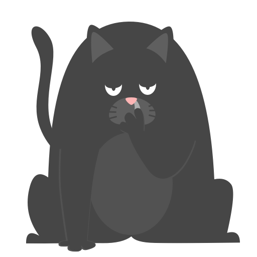Black Pussycat messages sticker-0