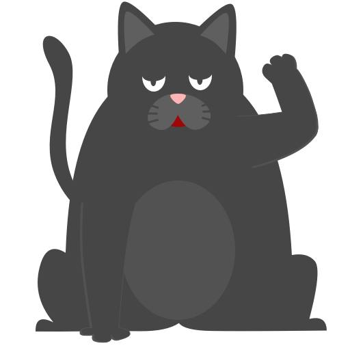 Black Pussycat messages sticker-10