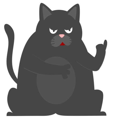 Black Pussycat messages sticker-6