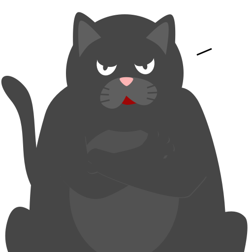 Black Pussycat messages sticker-1