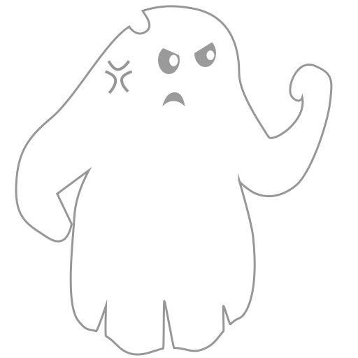 A Scary Ghost messages sticker-4