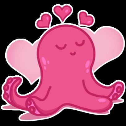 Octopus Emoji Stickers messages sticker-5