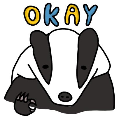 Badger messages sticker-5