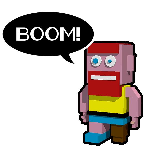 Blocky Humans messages sticker-6