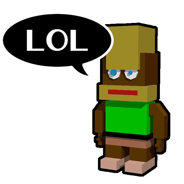 Blocky Humans messages sticker-4