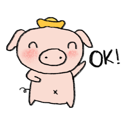 Marvin the Lucky Pig messages sticker-1