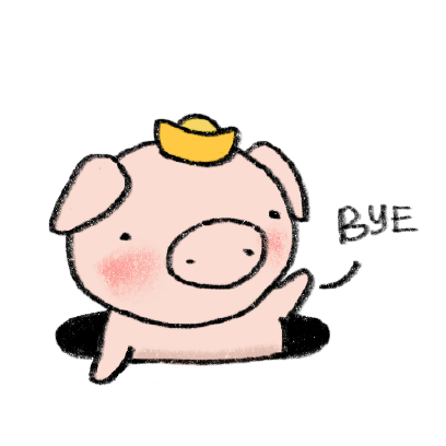 Marvin the Lucky Pig messages sticker-7