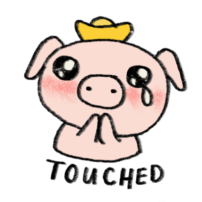 Marvin the Lucky Pig messages sticker-2