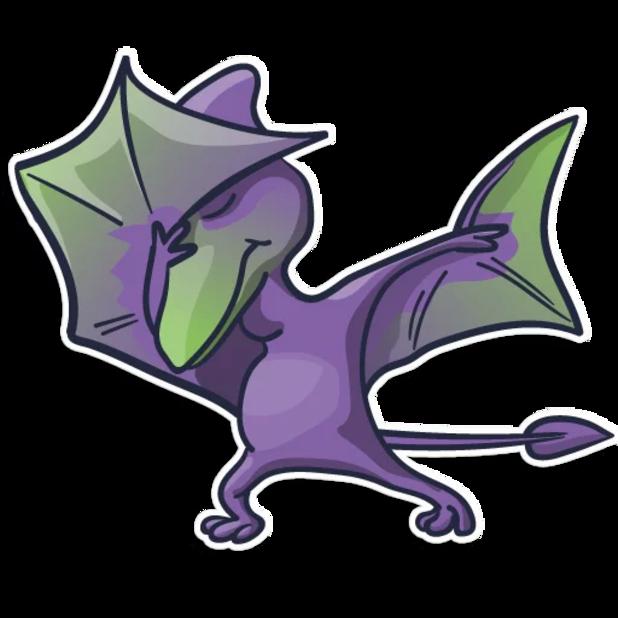 Pterodactylus messages sticker-10