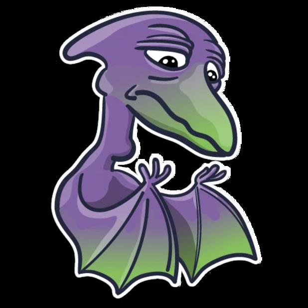 Pterodactylus messages sticker-2