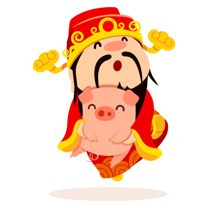 Piggy Chinese New Year Sticker messages sticker-7