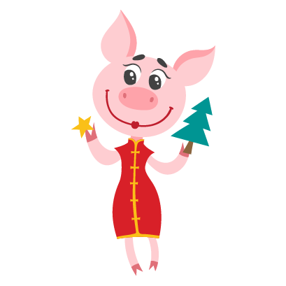 Piggy Chinese New Year Sticker messages sticker-5