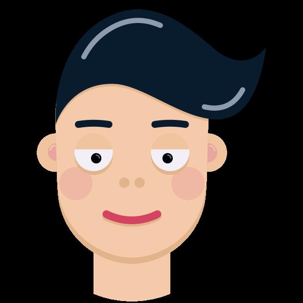 Man Face Emoji messages sticker-6