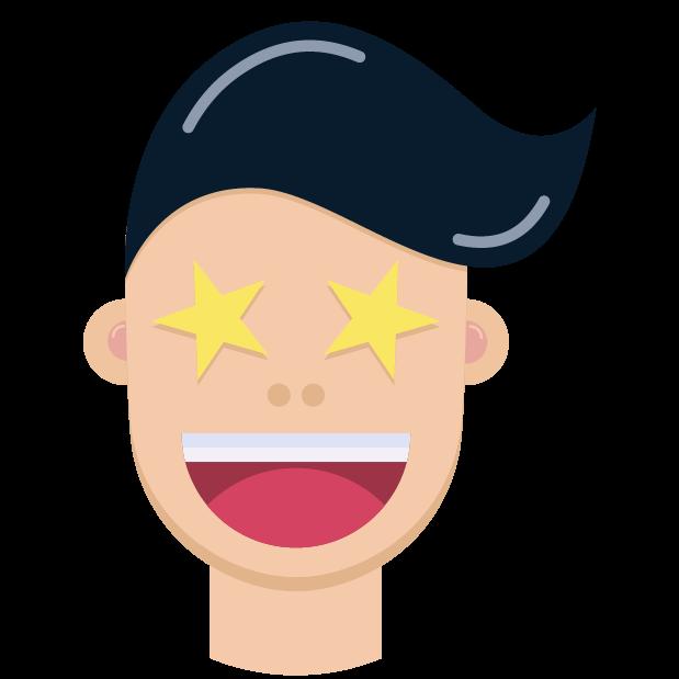 Man Face Emoji messages sticker-8