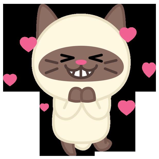 Cute baby cat ver.joy messages sticker-4