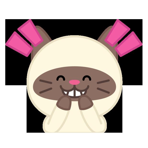 Cute baby cat ver.joy messages sticker-0