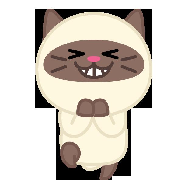 Cute baby cat ver.joy messages sticker-6