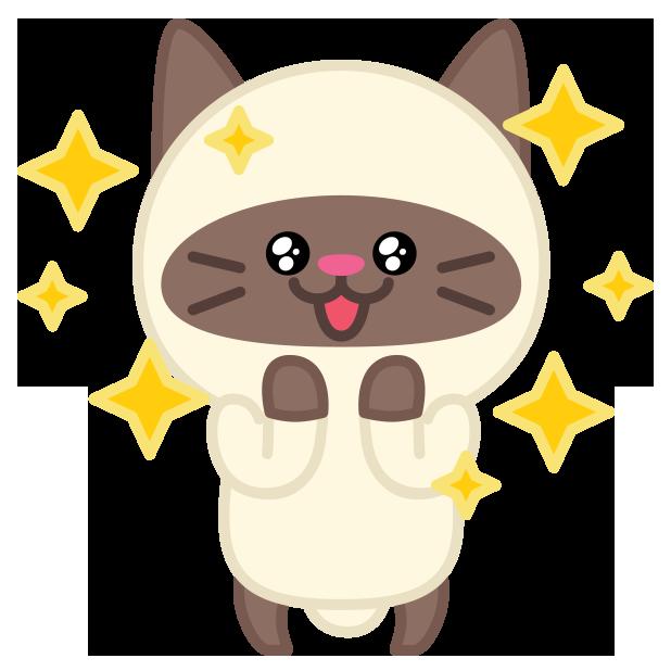 Cute baby cat ver.joy messages sticker-5
