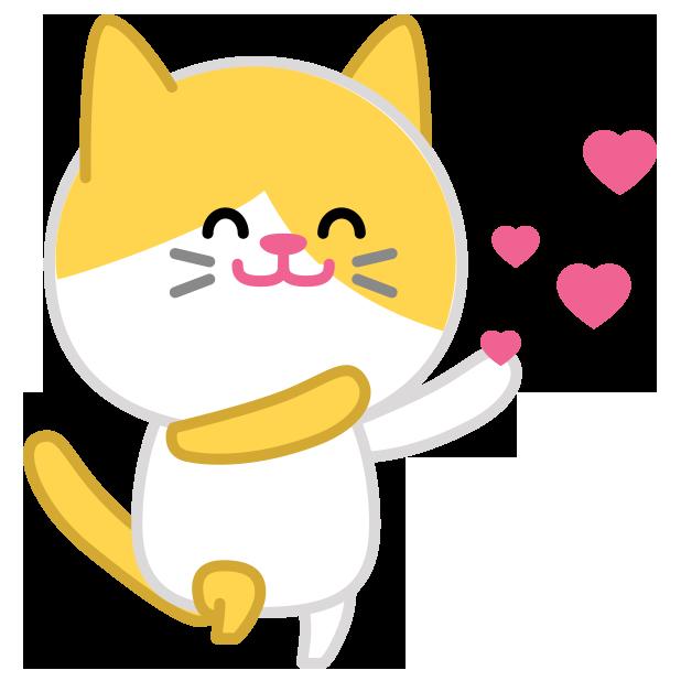 Cute baby cat ver.joy messages sticker-10