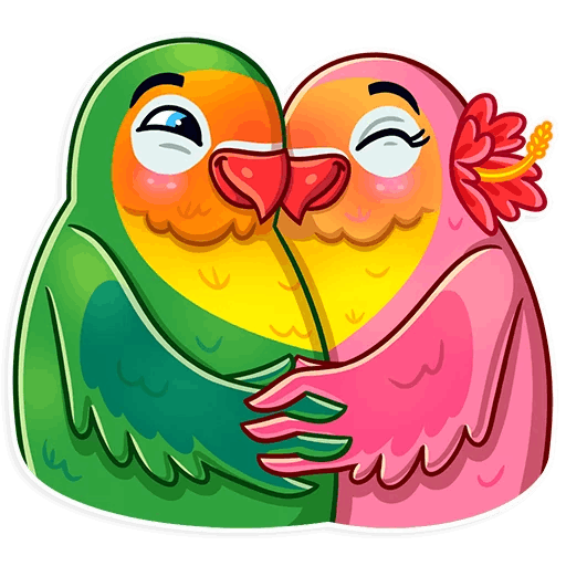 Love Birds Life Stickers messages sticker-9
