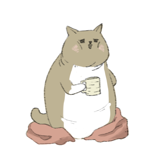 Lazy Fat Cat messages sticker-0