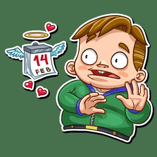 Valentine Day Fool Stickers messages sticker-3