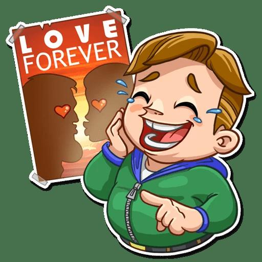 Valentine Day Fool Stickers messages sticker-0