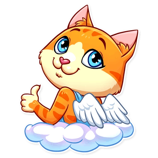 Cupid Cat Love Stickers messages sticker-2