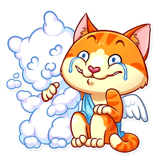 Cupid Cat Love Stickers messages sticker-10