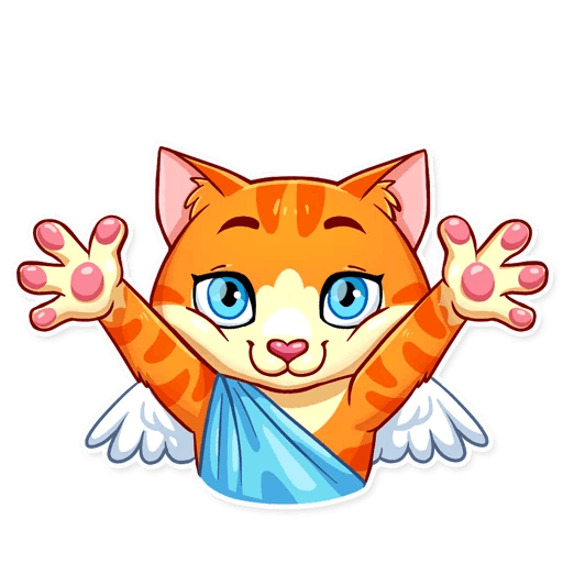 Cupid Cat Love Stickers messages sticker-6