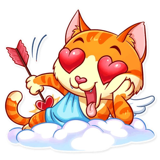 Cupid Cat Love Stickers messages sticker-4