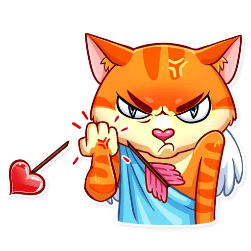 Cupid Cat Love Stickers messages sticker-11