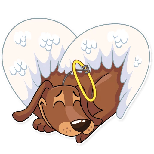 Cupid Dog Love Stickers messages sticker-8