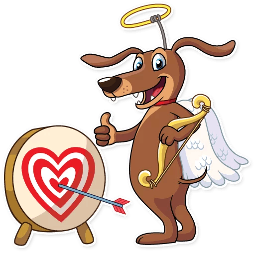 Cupid Dog Love Stickers messages sticker-2