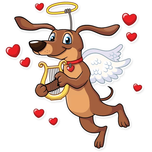Cupid Dog Love Stickers messages sticker-6