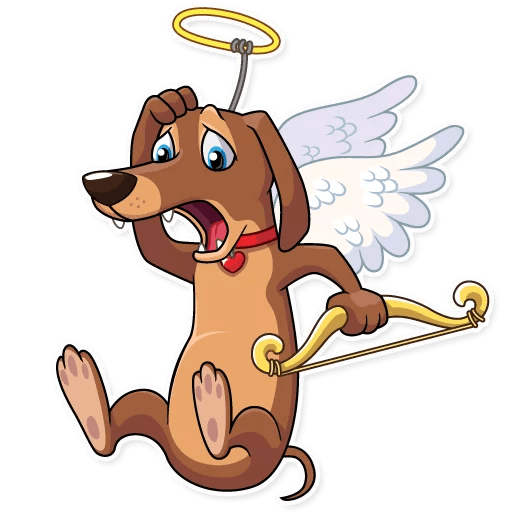 Cupid Dog Love Stickers messages sticker-3