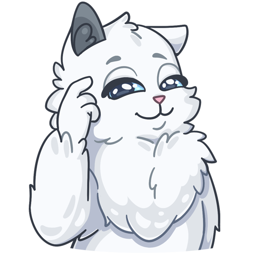 SnowBall Cat Stickers messages sticker-10