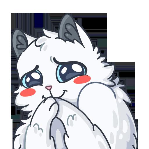 SnowBall Cat Stickers messages sticker-2