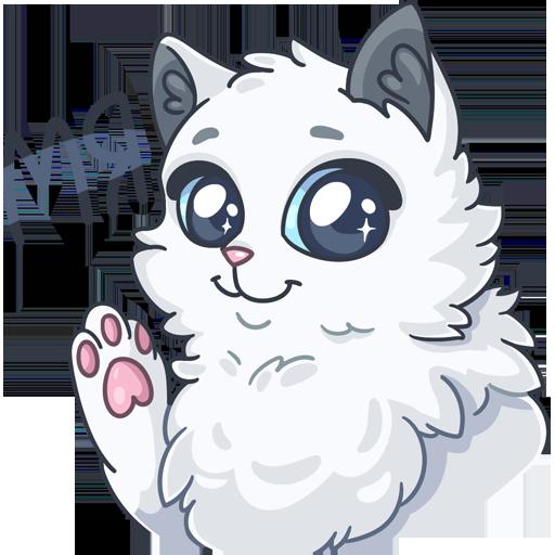 SnowBall Cat Stickers messages sticker-0