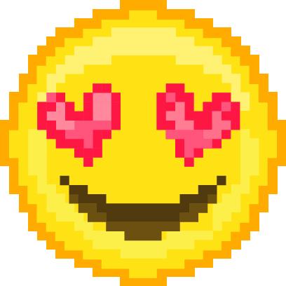 Pixel Art Emoji messages sticker-1