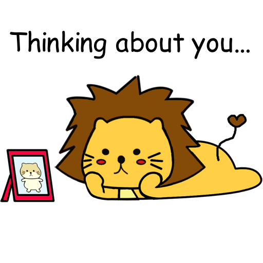 Singa Polah Lovely Stickers messages sticker-9